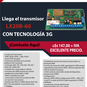 TRANSMISOR LX20B-60