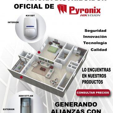 Distribuidores oficiales de una de las mejores marcas PYRONIX